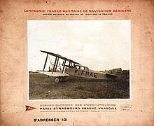 Cie Franco- roumaine de Navigation Aérienne vers 1920 Isabey Paris, Carte p