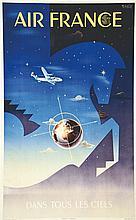 VILATO BADIA, Dans tous les ciels 1951 Perceval Paris, Affiche entoilée/ Po