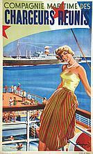 RAYMOND, Cie des Chargeurs Réunis 1950 Affiches Gaillard & Cie Paris, Affic