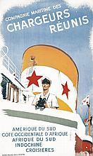 BRENET, Chargeurs Réunis vers 1950 Affiches Gaillard & Cie Paris, Affiche e