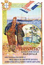 DELLEPIANE, Fraissinet & Cie Paquebots Poste Français vers 1900 Marseille (