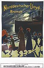 Norddeutscher Lloyd Bremen. vers 1920, Agent Général Richard Heckmann. Alge