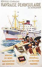BRENET ALBERT, Nouvelle Compagnie Havraise Peninsulaire de Navigation vers