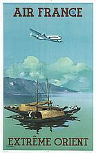 GUERRA, Extrème Orient vers 1950 Alepee & Cie Paris, Affiche entoilée/ Post
