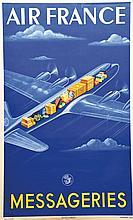 ATELIER PERCEVAL, Air Frances Messageries 1950 Perceval, 1 Affiche Non-Ento