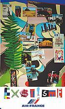 BEZOMBES ROGER, Exotisme Air France 1981 Mourlot Paris, 1 Affiche Non-Entoi