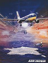 PEYROLLE P., Air Inter - Vols rouges, Vols blancs, Vols bleus, 1979 1 Affic