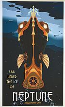 THOMAS STEVEN, Neptune sail under the Ice affiche signée par Steve Thomas v