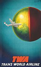 COLIN PAUL, Twa vers 1950 Bedos & Cie Paris, 1 Affiche Non-Entoilée / Poste