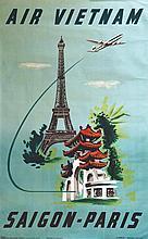 Air Vietnam - Saïgon - Paris 1955 Affiches Gailllard Paris, 1 Affiche Non-E