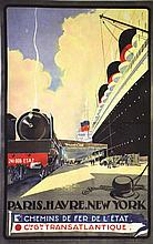 Paris Havre New York     vers 1930