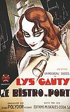 Lys Gauty - Le Bistro du Port - Polydor . 1934 . Les Impressions Lithos   Paris