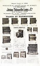 Pianos & Harmoniums Jérome Thibouville- Lamy & cie . vers 1900 . AD. Maréchal   Paris