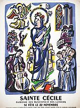 Sainte Cécile Patrone des Musiciens & Luthiers 22 Novembre . vers 1930 . Henri Lefebvre   Pari