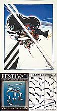 Lot de 3 Aff :  2 Festival de Cannes 1987 & 1988 & Camera . 1987 1988 & vers 1980 .