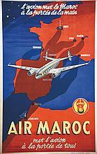 Lot 2 Air France & 4 Air Maroc . vers 1950 .