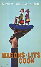 Wagonslits Cook . vers 1950 . Hubert Baille   Paris