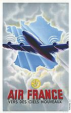 Air France Vers des Ciels nouveaux . vers 1950 . Perceval & Draeger   Paris