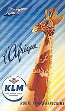 KLM L'Afrique . vers 1950 .