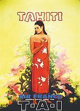 Tahiti Air France T.A.I. . vers 1950 .