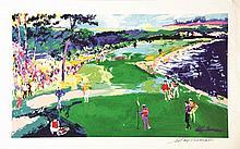 18th at Pebble Beach . vers 1980 . Célèbre Golf, l'un des plus mythique au Monde. / Celebrety
