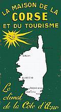 GUERIN L.  La Maison de la Corse et du Tourisme - Peinture sur Isorel