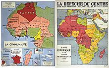 Carte d'Afrique et du Bassin Méditerranéen 1939 / La Communauté Française ( l'Empire).