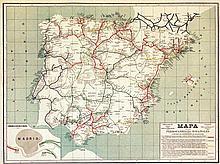 Mapa de los Ferrocarriles espanoles
