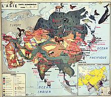Carte Economique Asie 1960