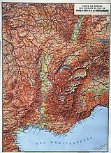Carte du réseau des Chemins de Fer de Paris à Lyon et à la Méditerranée
