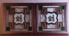 A Pair of Manque Li Glass Windows
