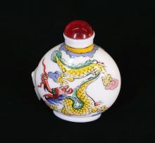 A ceramic snuff bottle