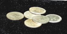 Six Chinese Coins