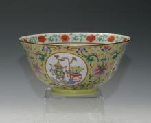 A large Famille-Rose bowls