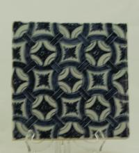 A Blue and White Tile