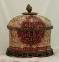 A Continental Pottery Covered Chest
