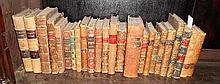 Twenty-Three Leather-Bound Volumes, many late