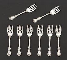 "Roger Williams Sterling Silver Company Dessert Fork, ""Corinthian"" Pattern, ca. 1900-13"