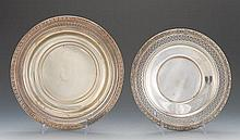 Wallace Silversmiths Sterling Silver Dish and Alvin Sterling Silver Plate