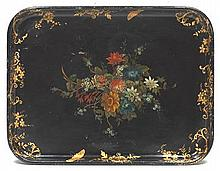 Hand Painted Paper Mache Tray