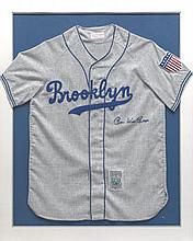 Signed Commemorative Brooklyn Dodgers Pee Wee Reese Jersey