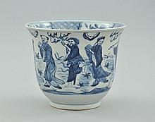 Kangxi Style Blue and White Porcelain Bowl, Chinese