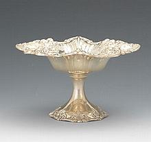 "Reed & Barton Sterling Silver Compote, ""Francis I"" Pattern, dated 1953"