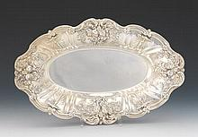 "Reed & Barton Sterling Silver Oval Bread Tray and Toothpicks Holder, ""Francis I"" Pattern, dated 1953/55"