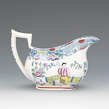 Staffordshire Porcelain Cream Jug, English, ca. 1835