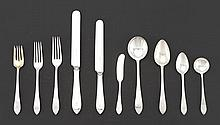 "Tiffany & Co. Sterling Silver Tableware Service for Twelve, ""Faneuil"" Pattern"