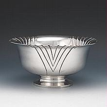 "Tuttle Sterling Silver Hand Chased Centerpiece Deep Bowl, ""Onslow"" Pattern for The Hardy & Hayes Co."