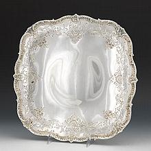 Graff, Wishbourne & Dunn Sterling Silver Footed Cake/Torte Plate, Retailed by Hardy & Hayes Co., Pittsburgh, PA
