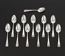 George W. Shiebler & Co. Sterling Silver 12 Soup Spoons, Retailed by Theodore B. Starr, ca. Early 20th Century