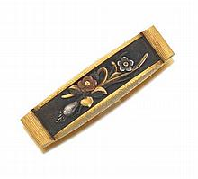 "Gold Potter & Mellen ""Kashira"" Bar Pin"